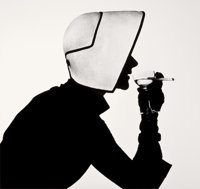 IRVING PENN (American, 1917-2009) Woman in Dior Hat with Martini (Lisa Fonssagrives-Penn), 1952 Gela