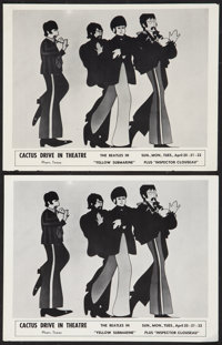 """Yellow Submarine (United Artists, 1968). Locally Produced Paper Prints (2) (8"""" X 10""""). Animation. ... (Total:..."""