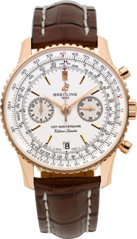 Breitling Very Fine 18k Gold 125th Anniversary Limited Edition Chronograph, The Last Example Produced No. 125/125
