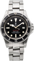 Timepieces:Wristwatch, Rolex Rare Ref. 1655 Double Red Sea-Dweller Submariner, circa 1977....