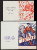 "Movie Posters:Adventure, The Buccaneer Lot (Paramount, 1938). Heralds (2) (6"" X 9"" and 5.25""X 6.5"").. Adventure.. ... (Total: 2 Items)"
