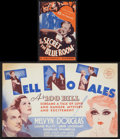 """Movie Posters:Mystery, Tell No Tales Lot (MGM, 1939). Heralds (2) (2.5"""" X 5.5"""" and 7"""" X11""""). Mystery.. ... (Total: 2 Items)"""