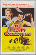 "Movie Posters:Exploitation, The Party Crashers (Paramount, 1958). One Sheet (27"" X 41"").Exploitation.. ..."