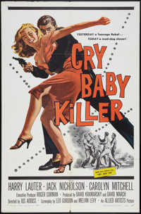 "Cry Baby Killer (Allied Artists, 1958). One Sheet (27"" X 41""). Crime"