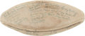 Football Collectibles:Balls, Circa 1935 U.S. Military Academy Team Signed Football - With Monk Meyer!...