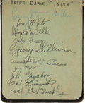 Football Collectibles:Others, 1930's and 1940's College and Professional Football Stars Signed Autograph Book....