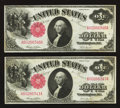 Fr. 36 $1 1917 Legal Tenders Two Consecutive Examples Very Fine-Extremely Fine