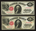 Fr. 36 $1 1917 Legal Tenders Two Examples Very Fine