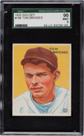 Baseball Cards:Singles (1930-1939), 1933 Goudey Tom Bridges #199 SGC 96 Mint 9 - Only Mint 9 ExampleKnown! ...