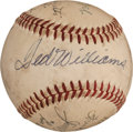 Autographs:Baseballs, 1950's Hall of Famers Signed Baseball with Williams, Griffith,More....
