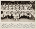 Autographs:Photos, 1944 Milwaukee Brewers Team Signed Photograph with CaseyStengel....