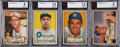 Baseball Cards:Lots, 1952 Topps Baseball BVG-Graded Collection (13). ...
