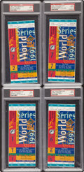 Baseball Collectibles:Tickets, 1997 World Series Full Tickets Lot of 4 PSA Mint 9. ...
