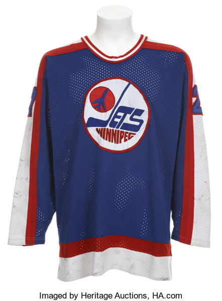 best loved 572a5 76fbd 1985-86 Perry Turnbull Game Worn Winnipeg Jets Jersey ...
