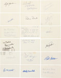 Baseball Collectibles:Others, Baseball Hall of Famers Signed Government Postcards Lot of 18....