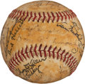 Autographs:Baseballs, Circa 1942 US Navy Team Signed Baseball with DiMaggio, Feller....