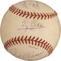 Autographs:Baseballs, Circa 1955 Hall of Famers Multi-Signed Baseball with Cobb, Baker,Foxx....