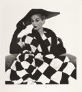Photographs:20th Century, IRVING PENN (American, 1917-2009). Harlequin Dress, LisaFonssagrives-Penn, 1950. Platinum-palladium, 1979. 20-3/4 x 19...