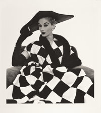 IRVING PENN (American, 1917-2009) Harlequin Dress, Lisa Fonssagrives-Penn, 1950 Platinum-palladium