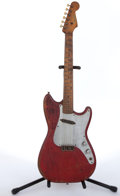 Musical Instruments:Electric Guitars, 1958 Fender Musicmaster Red Electric Guitar #025336....