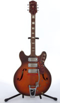 Musical Instruments:Electric Guitars, Late 1960s Harmony H-78 Sunburst Archtop Electric Guitar #8728....