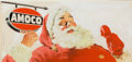 Mainstream Illustration, HARRY (HOMER) FREDMAN (American, b. 1923). Santa Claus Amocoadvertisement. Gouache tempera on board. 11.25 x 24.25 in....