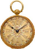 Timepieces:Pocket (pre 1900) , Isaac Reed & Son Philadelphia Choice 18k Fancy Dial Fusee,circa 1850. ...