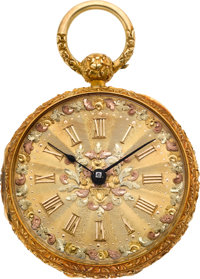 Isaac Reed & Son Philadelphia Choice 18k Fancy Dial Fusee, circa 1850