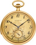 Timepieces:Pocket (post 1900), Tiffany & Co. High Grade Gold Minute Repeater By Touchon & Co., circa 1915. ...