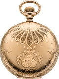 Timepieces:Pocket (post 1900), Waltham 14k Gold Heavy 16 Size Riverside, circa 1901. ...
