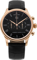 Timepieces:Wristwatch, Jaquet Droz Very Fine Gold Grande Date Noir Automatic ChronographNo. 43/88. ...