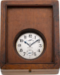 Timepieces:Pocket (post 1900), Hamilton Rare 36 Size Sterling U.S. Navy 21 Jewel Indicator, circa1915. ...