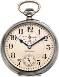 Timepieces:Pocket (post 1900), Hamilton 36 Size 21 Jewel Wind Indicator, Sterling U.S. Navy Case And Original Box, circa 1915. ...