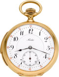 Timepieces:Pocket (post 1900), Nicolet 18k Gold Minute Repeater, circa 1905. ...