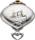Timepieces:Pocket (post 1900), Record Watch Co. Rare Titanic Motif Sector Watch, circa 1900. ...