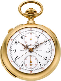 Patek Philippe Very Fine & Historically Important Minute Repeating Split Seconds Chronograph With Register Presented...