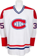Hockey Collectibles:Uniforms, 1986-87 Mike McPhee Game Worn Montreal Canadiens Jersey....