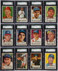 Baseball Cards:Sets, 1952 Topps Baseball Low & Middle Series (#'s 1-310) Partial Set (167). ...