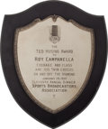 Baseball Collectibles:Others, 1959 Roy Campanella Presentational Award from Sports Broadcasters Association....