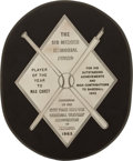 Baseball Collectibles:Others, 1963 Sid Mercer Award Presented to Max Carey for 1922 Season....