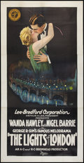 "Movie Posters:Crime, Lights of London (Gaumont, 1923). Three Sheet (41"" X 81""). Crime....."