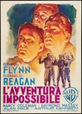 "Movie Posters:War, Desperate Journey (Warner Brothers, 1950). Post-War Italian 2 -Foglio (39"" X 55""). War.. ..."