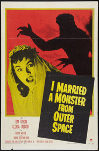 """I Married a Monster from Outer Space (Paramount, 1958). One Sheet (27"""" X 41""""). Science Fiction"""