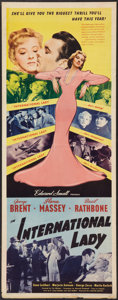 "International Lady (United Artists, 1941). Insert (14"" X 36""). Drama"