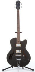 Musical Instruments:Bass Guitars, 2004 Michael Kelly Bebop Black Semi-Hollow Electric Bass Guitar#04062250....