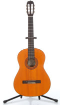 Musical Instruments:Electric Guitars, 1970s Epi C-10 Orange Natural Acoustic Guitar # 482517.. ...