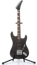 Musical Instruments:Electric Guitars, 1986 Epiphone By Gibson Strat Copy Black Electric Guitar #6011524....