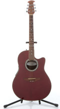 Musical Instruments:Acoustic Guitars, 1995 Ovation Celebrity CC057 Red Electric Acoustic Guitar #5515895....