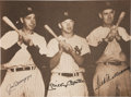 Autographs:Photos, Circa 1990 Joe DiMaggio, Mickey Mantle & Ted Williams Signed Large Photograph....