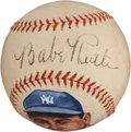 Autographs:Baseballs, Circa 1940 Babe Ruth Single Signed Portrait Baseball....